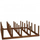 Metal display stand, for 25 rust plugs, 50x50cm